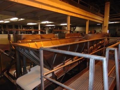 "Lot 641 - S.S. Product Belt Incline Conveyor, 24""W x 20'L"