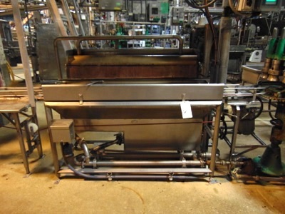 "Lot 627 - S.S. Overflow Briner, 48"" Long, Can Set"