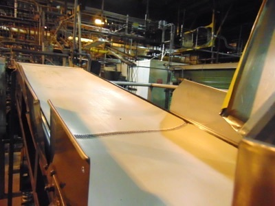 "Lot 609 - S.S. Product Belt Incline Conveyor, 24""W x 8' L"
