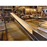 "S.S. Product Belt Incline Conveyor, 18""x20'L"