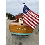 Vintage Richard Pulsiver Maine Boatbuilder Wood Vessel Approx. ' Long, Beam Measures , Yanmar 3