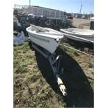 American 14' Fiberglass Sailboat with Mast & Trailer (NO TITLE)