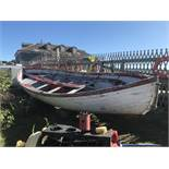 """25' Double Ended Wood Sailboat, 92"""" Beam (PROJECT BOAT)"""