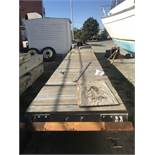 Wood Dock, Approx. 30'x4', 3 Floatation Pods, 6 Cleats