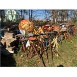 {LOT} Adjustable Height Boat Stands, Wood Blocks, Tires, Etc.