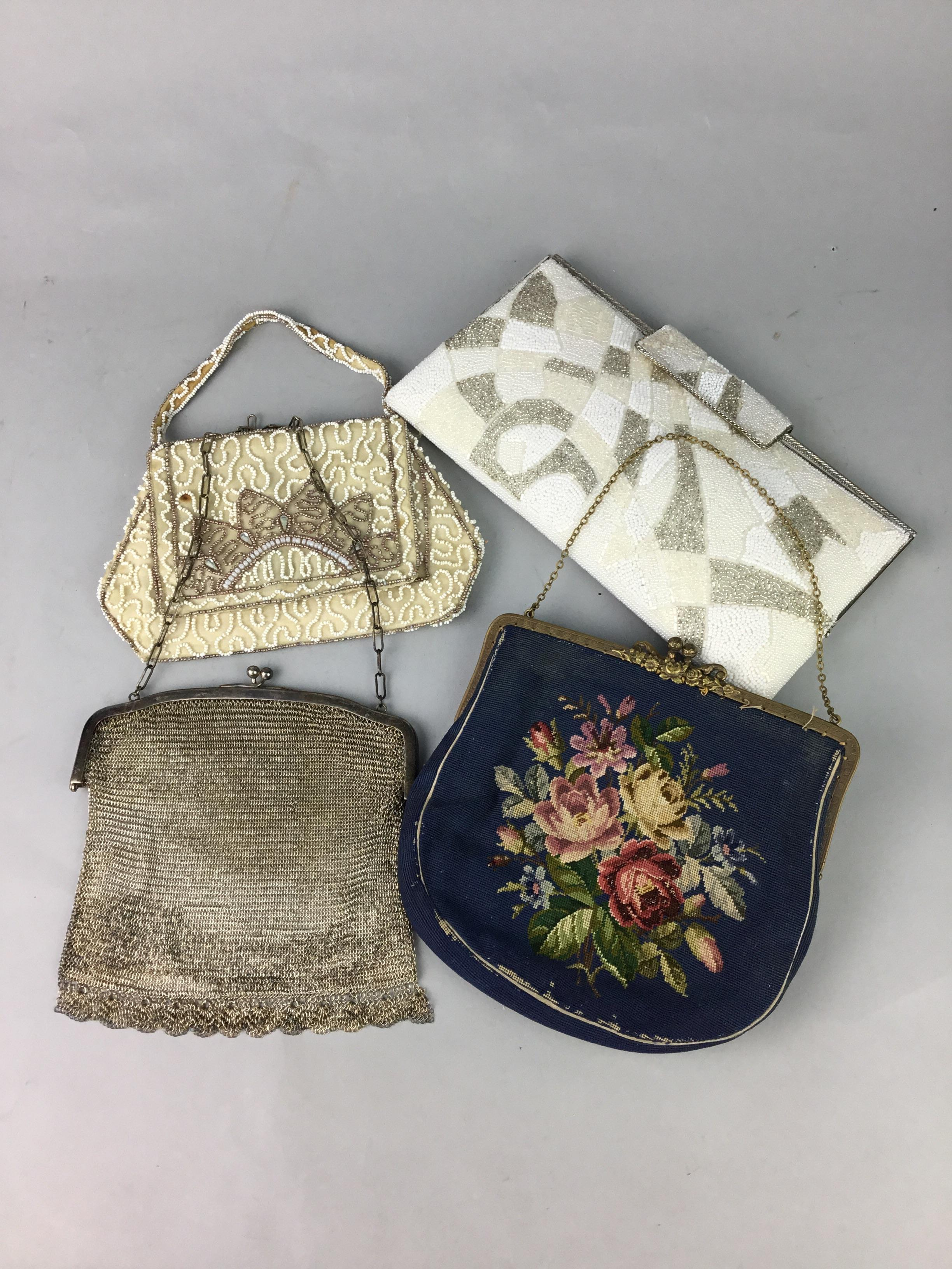 A SOUTH AMERICAN VINTAGE DESIGNER HANDBAG, OTHER BAGS AND TWO BLOUSES - Image 2 of 2