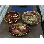 A CARLTON WARE CHINOISERIE CIRCULAR BOWL AND OTHER CARLTON WARE