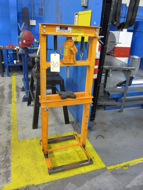 Lot 30 - H-FRAME SHOP PRESS, NORTHERN 12 T. CAP.