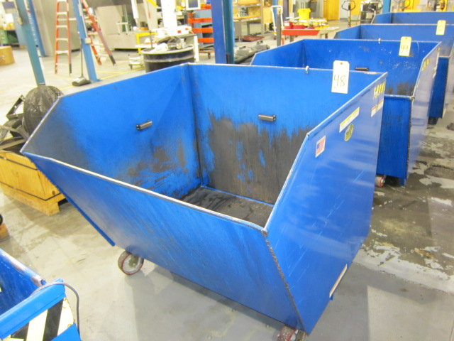 Lot 48 - SELF-DUMPING CHIP HOPPER, VESTIL 4,000 LB. CAP. MDL. H150-MV, 1-1/2 cu. yd. cap., forklift entry