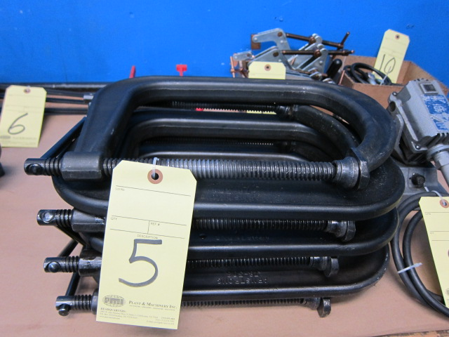 Lot 5 - LOT OF C-CLAMPS (7), ARMSTRONG 8""