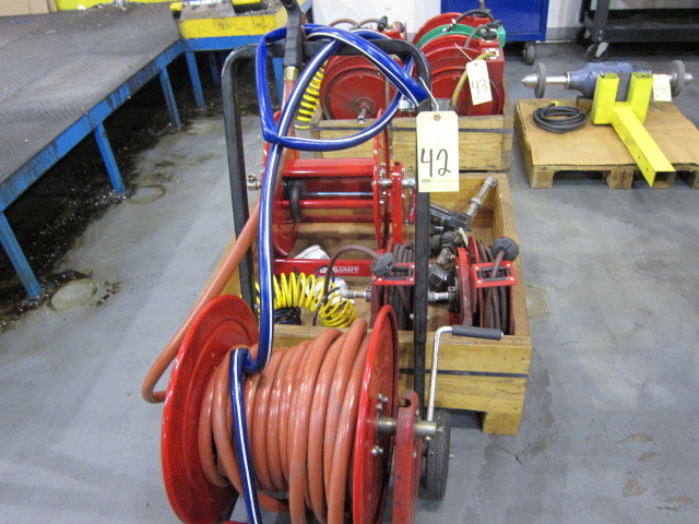 Lot 42 - LOT OF HOSE REELS (4), assorted