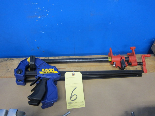 Lot 6 - LOT OF BAR CLAMPS (4), assorted