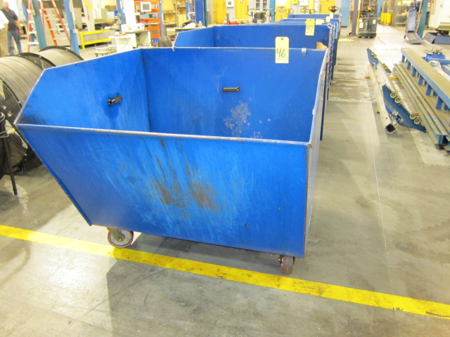Lot 46 - SELF-DUMPING CHIP HOPPER, VESTIL 4,000 LB. CAP. MDL. H150-MV, 1-1/2 cu. yd. cap., forklift entry