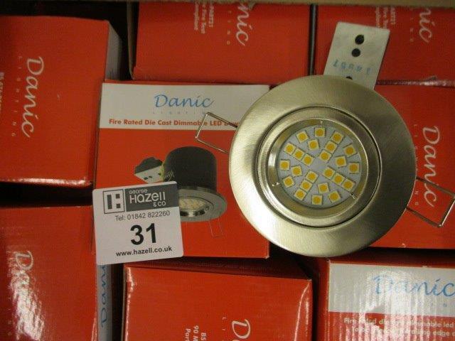 Lot 31 - 25 X LED D/LIGHT S/S INC LAMPS