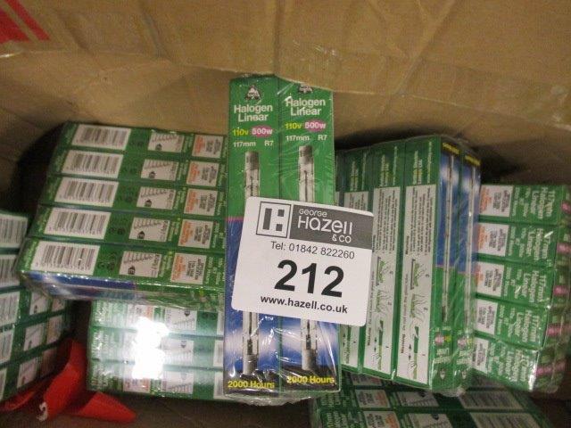 Lot 212 - 80 X 110V 500W FLOOD LAMPS