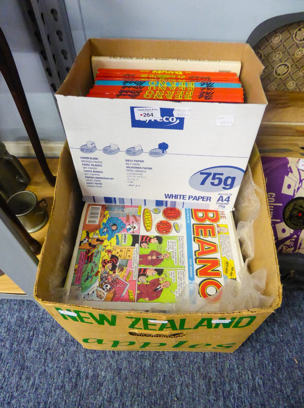Lot 264 - ELEVEN 'BEANO' AND 'DANDY' ANNUALS AND COMICS