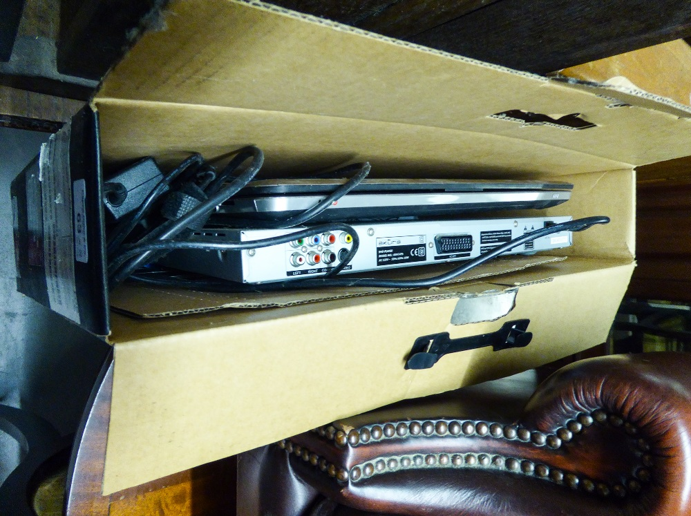 Lot 63 - A HP COMPUTER NOTEBOOK PC, BOXED AND A DVD PLAYER (2)