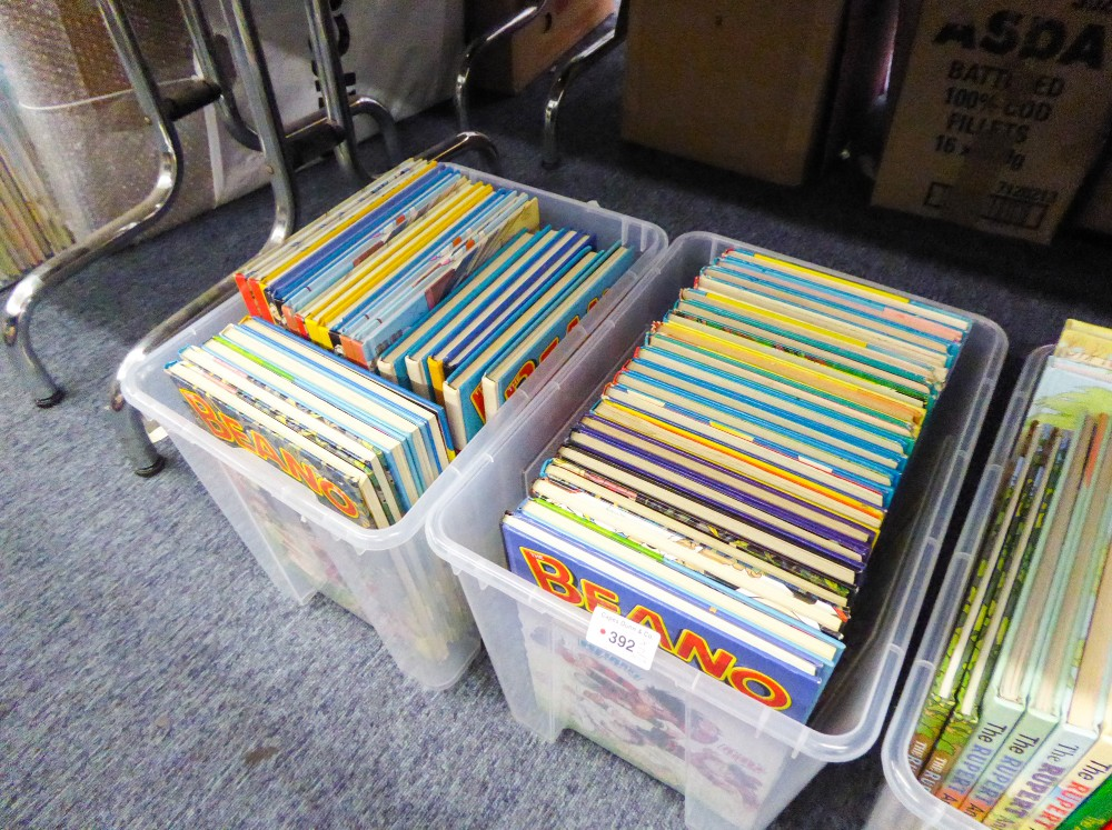 Lot 392 - FORTY FIVE 1980s ONWARDS 'BEANO' BOOKS/ANNUALS (45)