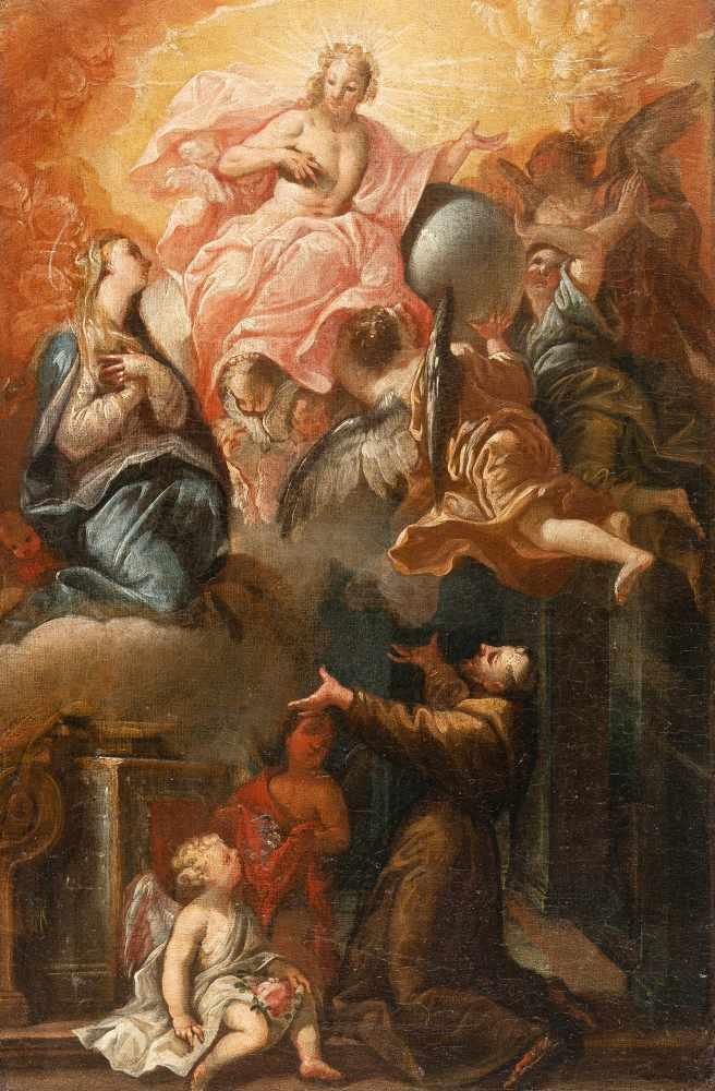 Los 55 - Melchior Steidl1657 Innsbruck - Munich 1727Christus, Maria und die Engel erscheinen einem