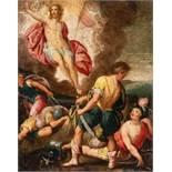Hans Rottenhammer (Umkreis)1564 Munich - Augsburg 1625Die Auferstehung ChristiÖl auf Kupfer. (Um