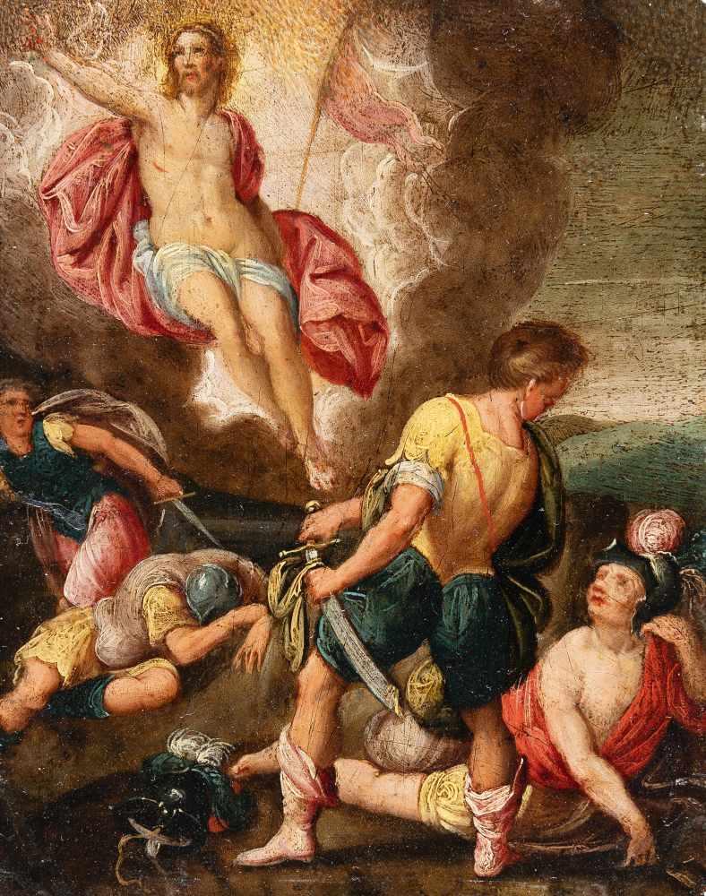 Los 59 - Hans Rottenhammer (Umkreis)1564 Munich - Augsburg 1625Die Auferstehung ChristiÖl auf Kupfer. (Um