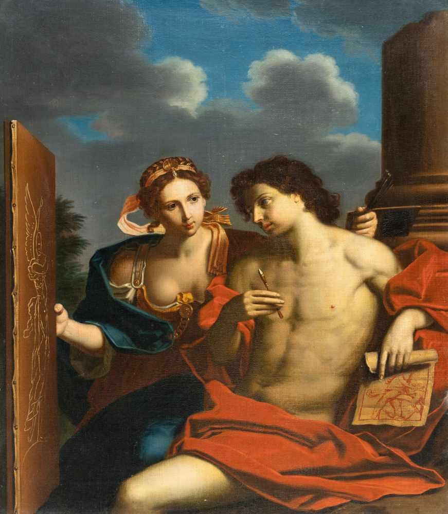 Los 47 - Michele Desubleo1602 - Maubeuge - Parma 1676Allegorie der MalkunstÖl auf Leinwand. (Um 1650/60).