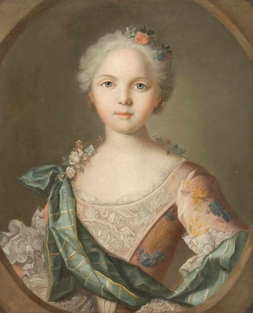 Los 43 - Jean-Marc Nattier (Umkreis)1685 - Paris - 1766Bildnis der Mlle de Pleumartin, Marquise de la