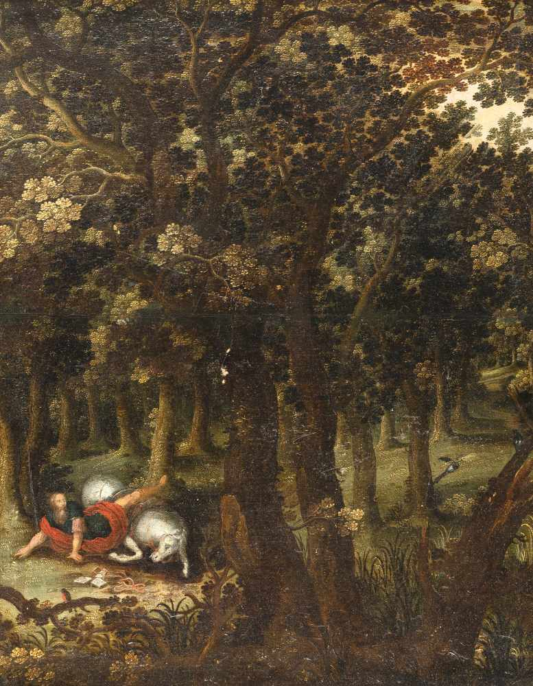 FlämischDie Bekehrung des PaulusÖl auf Holz. (Frühes 17. Jh.). 54 x 42,5 cm.Provenienz: