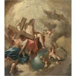 Franz Sigrist1727 Alt-Breisach - Vienna 1803Die heilige Dreifaltigkeit in der GlorieÖl auf Leinwand,