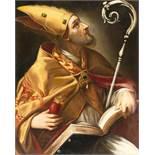 ItalienischDer hl. AugustinusÖl auf Leinwand, auf Holz aufgezogen (18. Jh.). 64,5 x 52 cm.