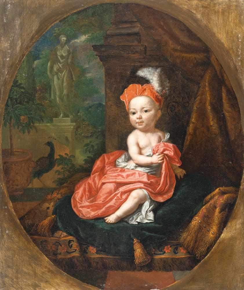Mattheus Verheyden1700 Breda - Den Haag 1776Ein kleiner Prinz in rotem Gewand und mit rotem