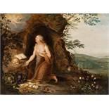 FlämischDie büßende Maria MagdalenaÖl auf Holz. (17. Jh.). 20 x 26,5 cm. Provenienz: Privatbesitz,