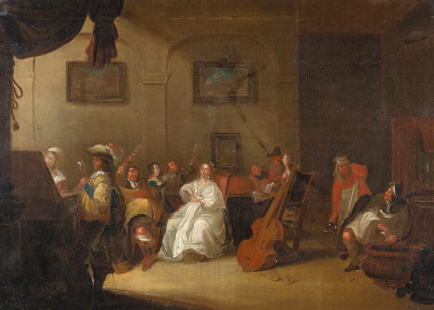 Los 29 - Nach Jacob Duckc. 1600 ? - Utrecht 1667Eine elegante und fröhlich musizierende GesellschaftÖl auf