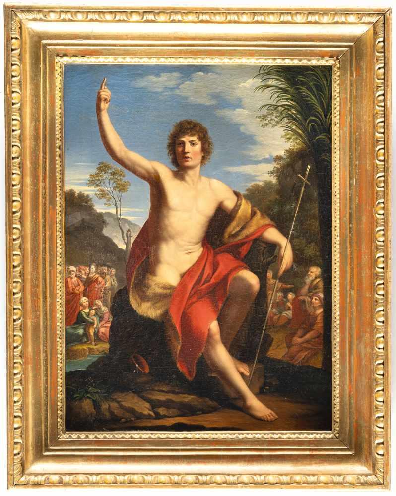 Los 50 - Heinrich Friedrich Füger (Umkreis)1751 Heilbronn - Vienna 1818Der hl. Johannes, predigendÖl auf