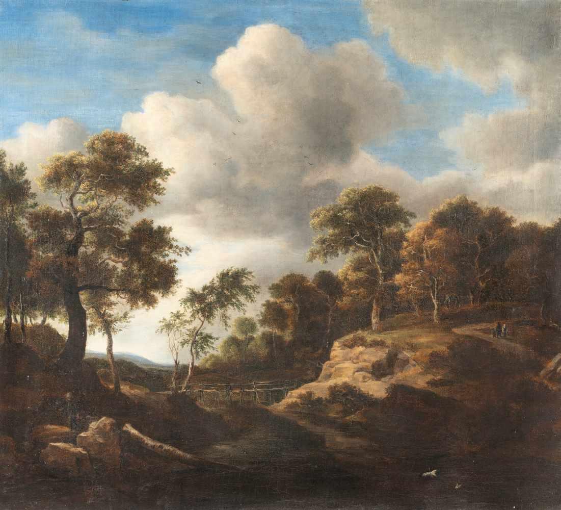 Los 36 - Nach Jacob Van Ruisdael1628/29 Haarlem - Amsterdam 1682Waldlandschaft mit sumpfigem Gewässer und
