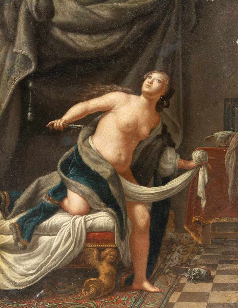 Los 24 - Pieter Van Der Werff (Zugeschrieben)1665 Kralingen - Ambacht 1722Der Selbstmord der LucretiaÖl auf