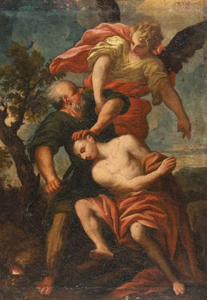 Los 48 - Antonio Puglieschi1660 - Florence - 1732Isaaks OpferungÖl auf Leinwand. 1693. 61,5 x 42,5 cm.