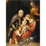 FlorentinischHeilige Familie mit Elisabeth und dem JohannesknabenÖl auf Holz. (2. Hälfte des 16.