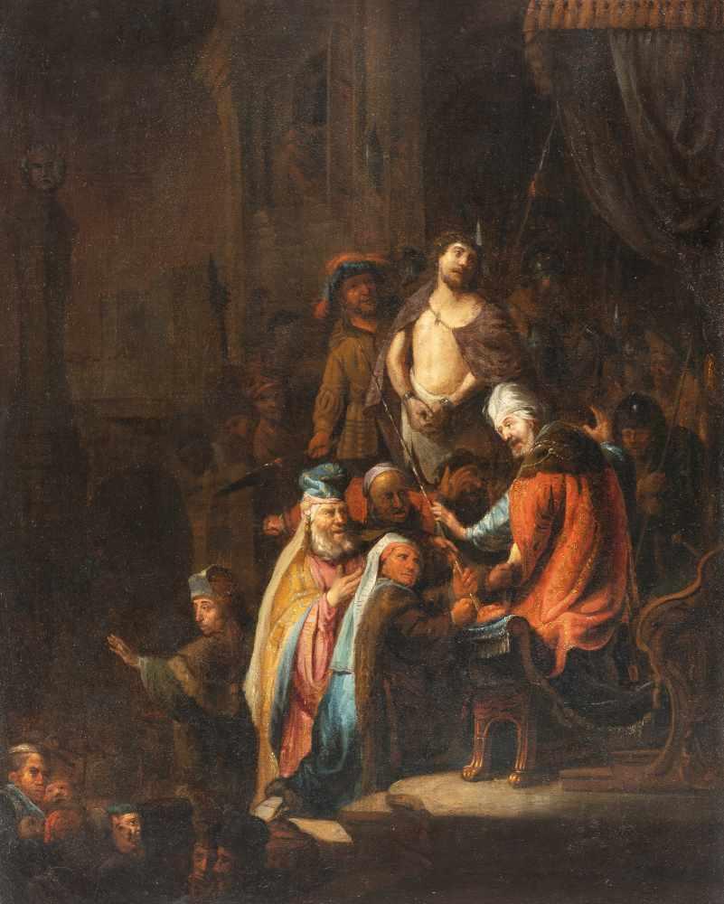 Rembrandt Harmensz. Van Rijn (Nachfolge)1606 Leiden - Amsterdam 1669Christus vor PilatusÖl auf