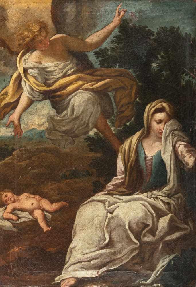 Los 49 - Antonio Puglieschi1660 - Florence - 1732Hagar und Ismael in der WüsteÖl auf Leinwand. 1693. 61,5 x