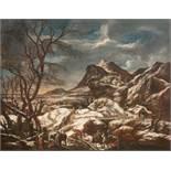 Marco Ricci1667 Belluno - Venice 1729Winterlandschaft mit BrennholzsammlernÖl auf Leinwand,