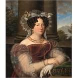 Italienisch Maria Isabella von Spanien, Königin von Sizilien Öl auf Leinwand. 1832. 40,5 x 34 cm.
