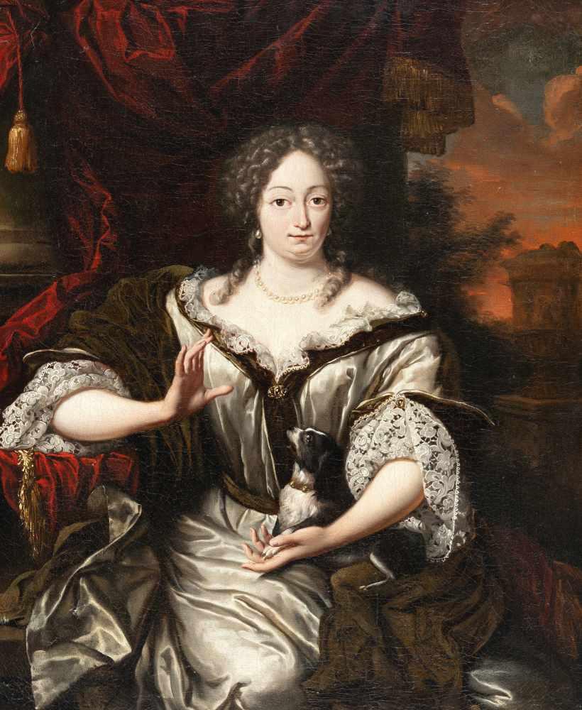 Hermannus Colleniusc. 1650 Kollc. (Friesland) - Groningen 1723Bildnis einer Dame mit einem