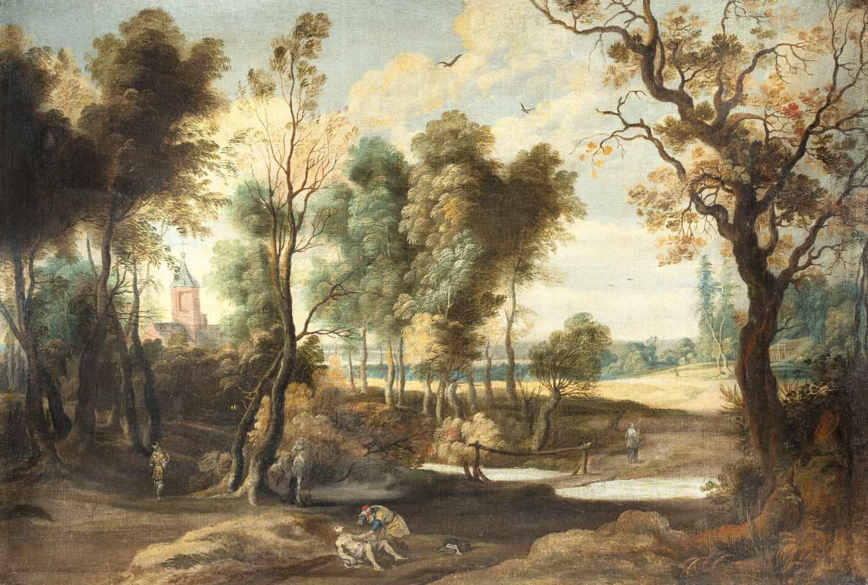 Jan Wildens (Nachfolge)1586 - Antwerp - 1658Landschaft mit dem barmherzigen SamariterÖl auf