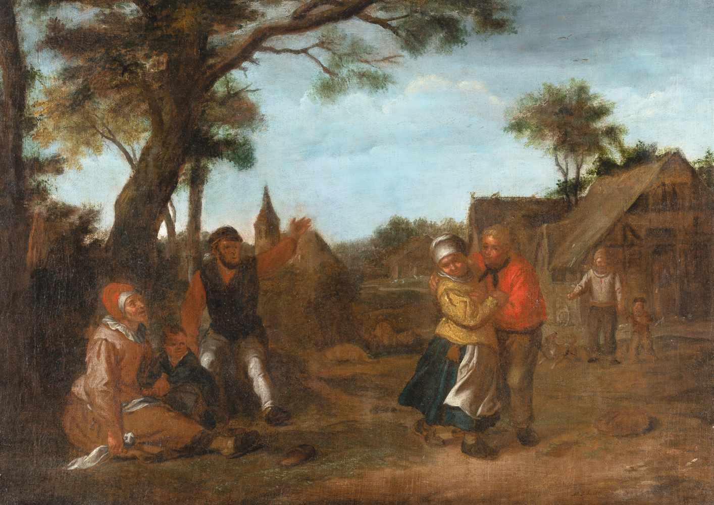 Matthias Scheits c. 1625/30 - Hamburg - c. 1700 Der Zudringliche Öl auf Leinwand, doubliert. 1695.