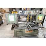 HYD-MECH MOD. S-20 HORIZONTAL BAND SAW, W/ OUTFEED CONVEYOR, S/N: 20990689