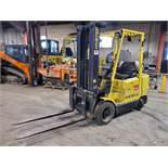 HYSTER PROPANE FORKLIFT, S60XM 6000LB CAPACITY, TRIPLE MAST, SIDE SHIFT- LOCATION - LACHINE, QUEBEC