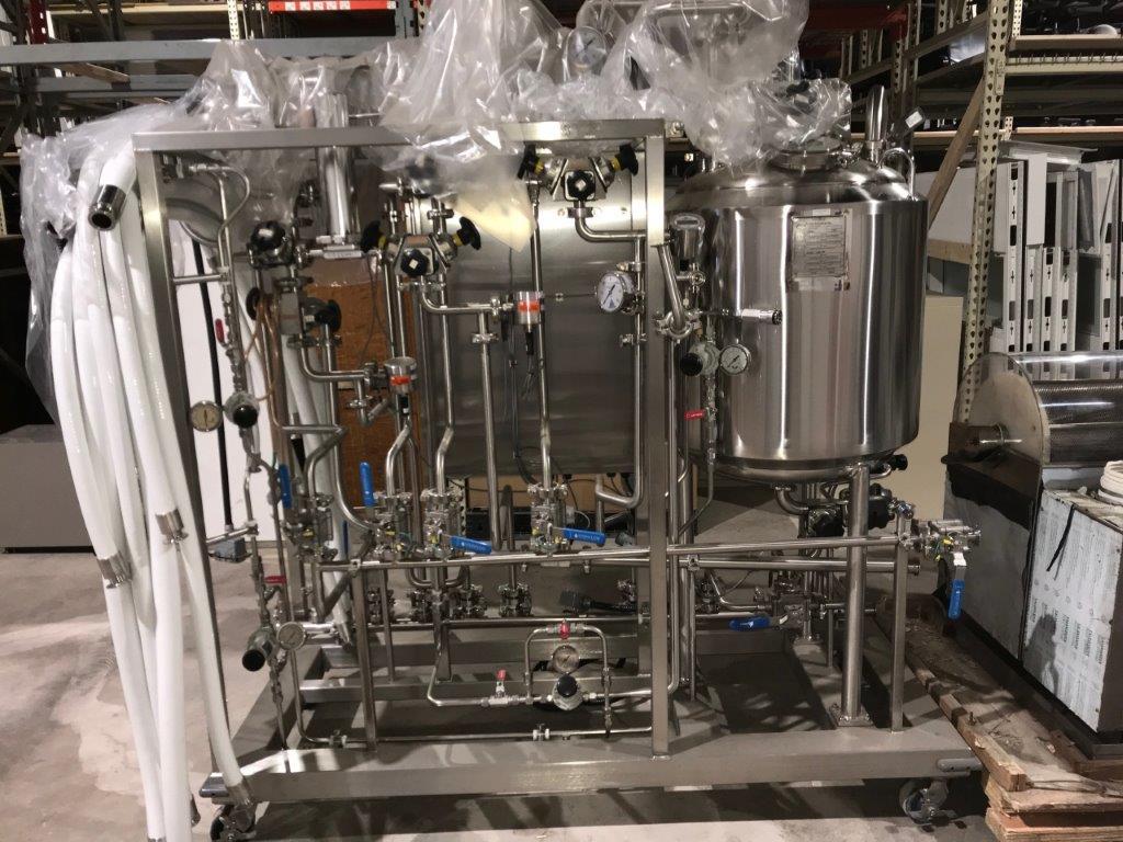 UNUSED 150 L INOX PRESSURE VESSEL/PARTIAL WATER FILTRATION SYSTEM.- LOCATION - AURORA, ONTARIO