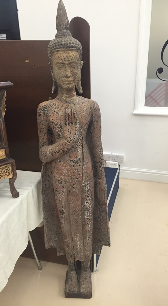 Lot 286 - A Cambodian wooden buddha