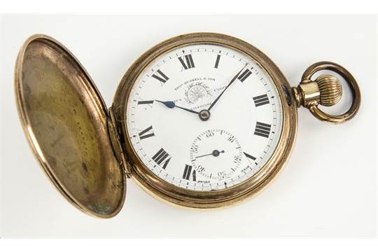 A Thomas Russell of Liverpool full hunter pocket watch gold
